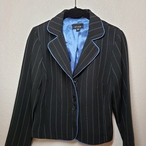 Black and blue stripe suit skirt